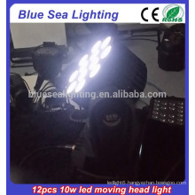 12pcs 10w RGBW 4in1 led moving head beam new product ideas
