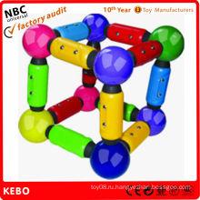Пластиковые магнитные строительные блоки