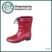 Invierno lluvia hombres botas B-808 de botas de lluvia Botas baratas de los hombres de lluvia del PVC por mayor botas hombre