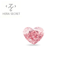 ForeverFlame fancy pink 2.5ct 8.7mm*7.2mm  Heart Cut diamond CVD CZ Moissanite Haute couture jewelry ring
