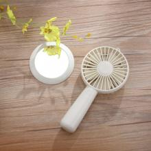 Beautiful Electric Portable USB Handheld Mirror Mini Fan