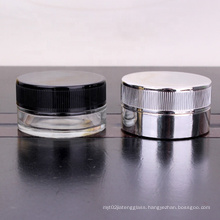 hot sell electroplated 60ml 2oz child resistant jar for food cream storage with child proof lid