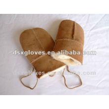Guantes de mitten de piel para niños