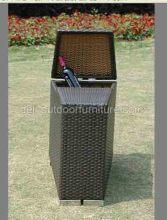 Μπαρ έπιπλα Multi λειτουργική ινδικού καλάμου εξωτερική αποθήκευση κουτί