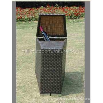 Bar Furniture Multi Functional Rattan Outdoor Storage Box