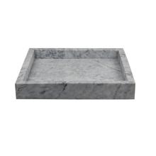Quadratisches Marmor-Tablett mit 25 x 25 cm