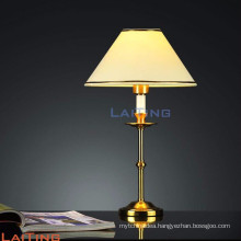 Modern fancy gold finish office table lamp with battery 2261