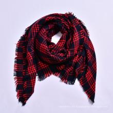 Mujeres europeas y americanas populares del estilo 140 * 140 bufanda manta de la tela escocesa cuadrada del invierno del acrílico