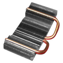 Heat Pipe Applied Heatsink with Aluminum Fins, Used in Industrial Device Systems