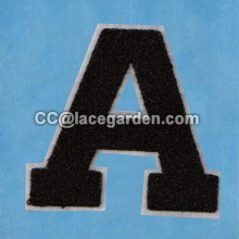 Alphabet Chain Embroidery Patches