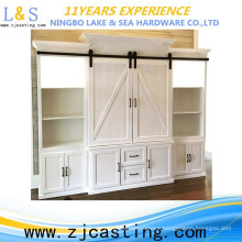 The mini sliding barn door hardware is designed for cabinet and TV stand.
