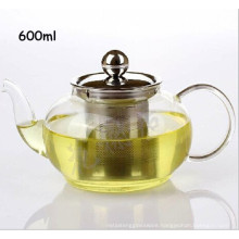 Stainless Steel Filter Lid Borosilicate Glass Green Tea Pot