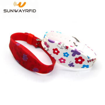Alien H3 UHF RFID Colorful Printing Silicone Wristband