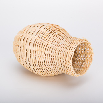 Jarrón Percell en forma de nido de pájaro de ratán grande