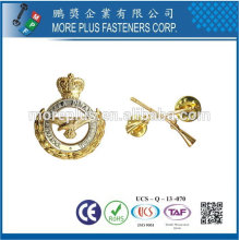Taiwan Brass Copper Gold Plated Stamping High Qualities Custom Pin Badges Metal Badges