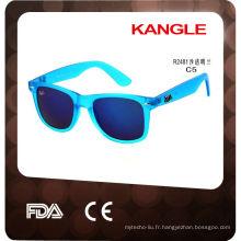 2017 en plastique personnalisé lunettes de soleil, usine de Wenzhou
