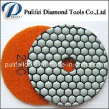 3 Zoll Harz Haken flexible Diamant Polieren Honeycomb Dry Pad