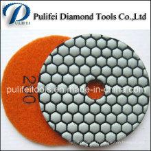 Tampon sec de nid d'abeilles de polissage de diamant flexible de crochet de résine de 3 pouces