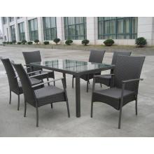 Al aire libre muebles pila silla KD mesa de comedor