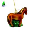 Christmas Glass Horse Ornaments