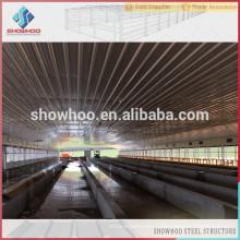Showhoo structure en acier préfabriquée commercial poules maisons maison de volaille à vendre