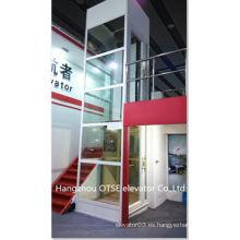 Plataforma elevadora de 400kg con eje de vidrio