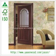 China decorar la piel de la puerta de chapa de madera de vidrio francés Dooe
