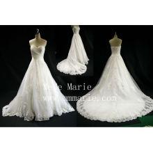 Elegantes Schatz Eiffel Applique Brautkleid Brautkleid mit Reißverschluss Brautkleid trägerlosen Muster