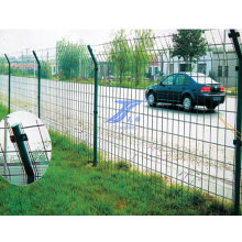 Double Border Wire Round Post Fecne
