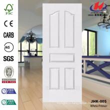 JHK-005 Новый дизайн гладкой поверхности Белый грунтовка с высоким качеством кожи двери