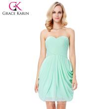 Grace Karin Strapless Cuello Cuello Cuello Bodas Dama de Honor Vestidos 7 Tamaño EE.UU. 4 ~ 16 GK000124-3