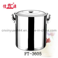 0.8mm Stainless Steel Soup Barrel with Lid (FT-3605)