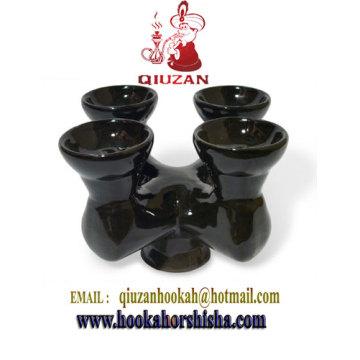 Cuatro cabezas cachimba cerámica Bowl Bowl/Shisha