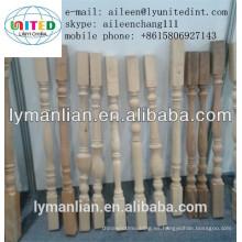 Balaustrada de madera y barandillas para escaleras de madera.