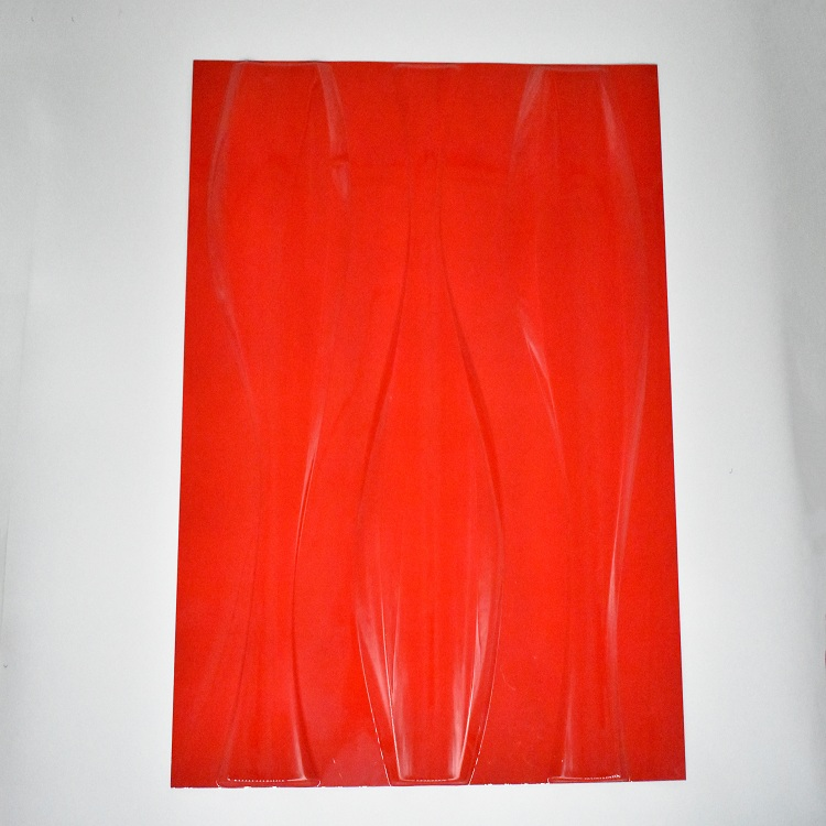 3D Decoration Red Wall Panel
