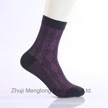 Diamond Design Men Business Cotton Socks Dress Casual Everyday Socks