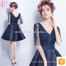 Kurzes königliches blaues westliches Damen-Großverkauf plus Größen-Fabrik-Abend-Kleid in Istanbul