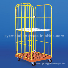 MID East Popular Powder Coated Colorful Roll Pallet Container Cage