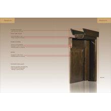 Muestra de ingeniería puerta de madera (ED01-ED020)