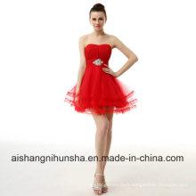 Robe de bal de soirée chérie sans manches en tulle courte robe de bal