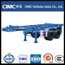 Cimc 30 Ton 20FT Skelett-Auflieger