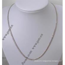 Gets.com 925 sterling silver real gold necklace om