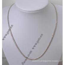 Gets.com prata esterlina 925 colar de ouro real om