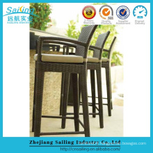 Popular Patio Waterproof Cheap Rattan Bar Stools Rattan High Table Bar