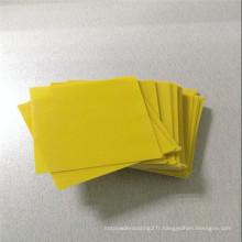 Feuille isolante de résine époxyde de 2mm jaune de 32mm