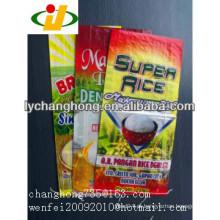 Melhor qualidade PP tecido saco de arroz com laminado