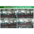 Machine de découpage d'éponge fractionnement au carrousel