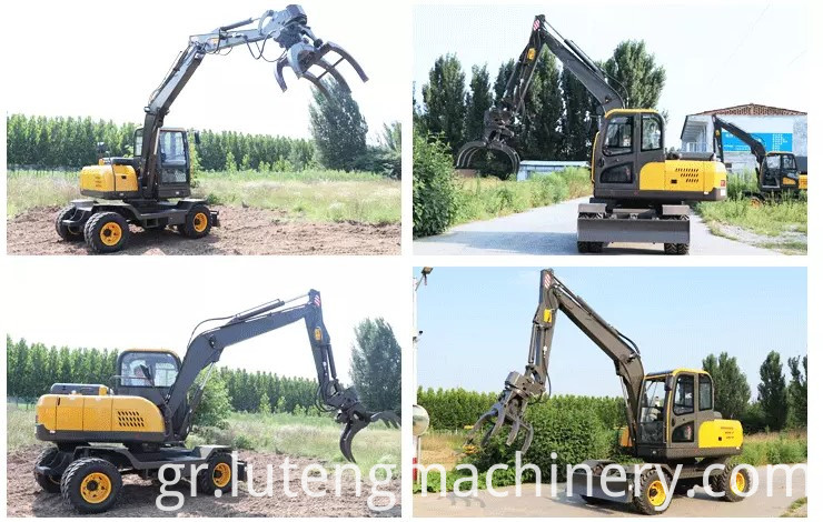 Use of wheel excavator
