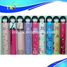 Guarda-chuva novo do presente do projeto 2018 / guarda-chuva japonês popular da boneca