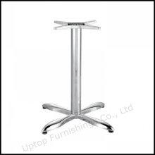 Base de mesa de aço inoxidável brilhante de 304 graus de aço inoxidável (SP-STL028)